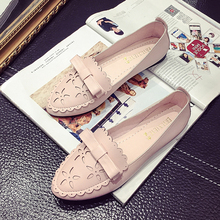 Hot-selling Fashion New Arrival 2016 Spring Pink Bow Pointed Flat Shoes Sexy Shallow Mouth Single Shoes for Women Free Shipping
