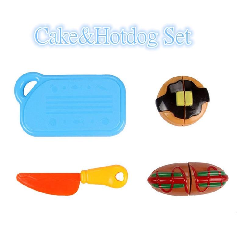 DIY Children's Kitchen Toys Kids Play House Plastic Toy Hamburg Bread Cakes&Hotdog Cake Food Toys set Early Education Kids Gifts (5)