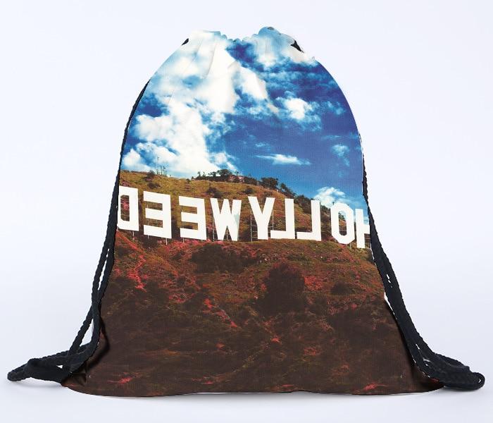 Aliexpress.com : Buy fashion skull printed drawstring bag for ...