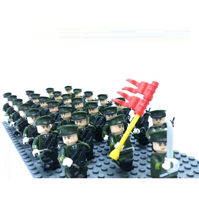 10pcs figures Original Blocks Educational Toys Swat Police Military Weapons Gun Model Accessories figures