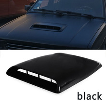 1x Universal Car Bonnet Hood Scoop Air Flow Intake Vent Cover Decorative 28*25*3.3cm White/ Black Auto Air Flow Vent Cover
