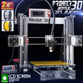 2015 Hot Full Acrylic Quality High Precision Reprap Prusa i3 LCD DIY 3d Printer Kit with 2 KG Filament  8G SD card  for Free