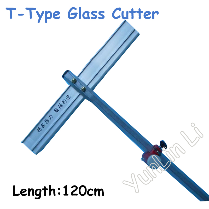 120cm T-Type Glass Cutter High Quality Long Type Glass Cutter bld t 60a t type glass cutter long type cutter for glass 600mm good quality push knife glass cutting knife 6 12mm hot selling