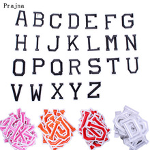 Prajna 26 PCS/lot English Alphabet Letter Patches Embroidered Iron on Patch for Clothing 3D DIY A-Z Badge to Cloth Accessory F