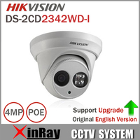 Newest Original English Version DS 2CD2342WD I 4MP WDR EXIR Turret Network Camera MINI Dome IP