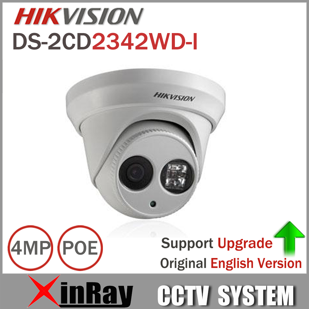 Hikvision Original English Version DS-2CD2342WD-I 4MP WDR EXIR Turret Network Camera MINI Dome IP Camera CCTV Camera hikvision cctv poe 4mp camera ds 2cd3345 i hd night version onvif exir turret wdr dome ip security camera replace ds 2cd2345 i