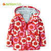Actionclub 2016 New Baby Girls Outerwear Spring Autumn Girls Jacket Flower Print Infant Overcoat Kids Children