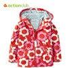 Actionclub 2016 New Baby Girls Outerwear Spring Autumn Girls Jacket Flower Print Infant Overcoat Kids Children