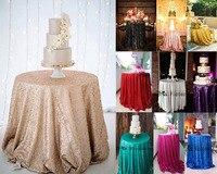 Özel yapılmış Yuvarlak Payet masa Örtüsü Düğün Güzel Payet Masa Örtüsü/Bindirme/Kapak herhangi renk herhangi boyutu
