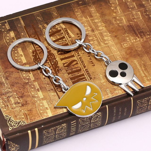 Anime SOUL EATER Keychain Car Phone Charm Key Chain Souleater Death Key Ring Holder Jewelry