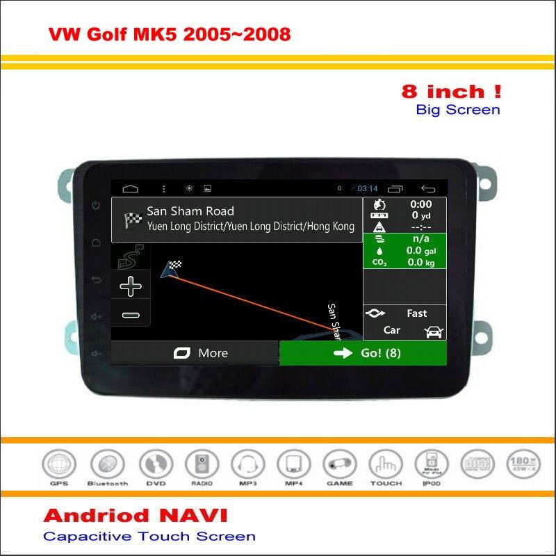 Android car multimedia sistema de navegación mapa para volkswagen vw golf mk5 20