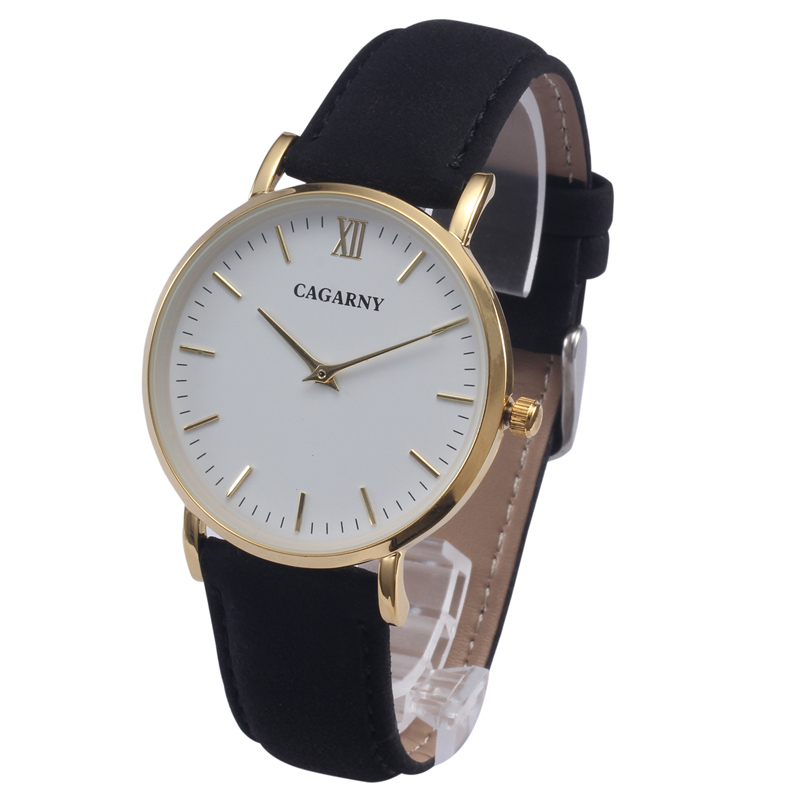 Cagarny Stylish Women Watches Bracelet Watch Ladies Quartz Wristwatches Leather Strap Relojes Mujer Golden Relogios Feminino New