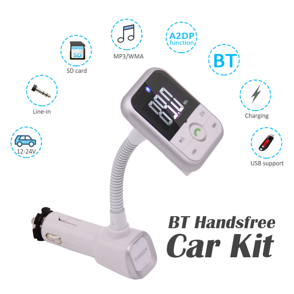 Wireless Bluetooth Car MP3 Player FM Transmitter Radio Aux LCD SD USB Charger