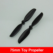 Jun Yu Liang DIY 75mm Technical Creative Airplane Propeller for 1mm Shaft Coreless Motor 716 / N30 etc