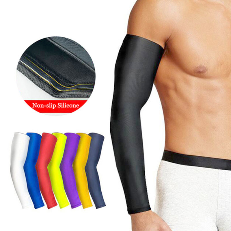 1Pcs Arm Sleeves For Sun UV Protection Basketball Elbow Pad Black Sleeve Sport Breathable Quick Dry Arms Sleeves
