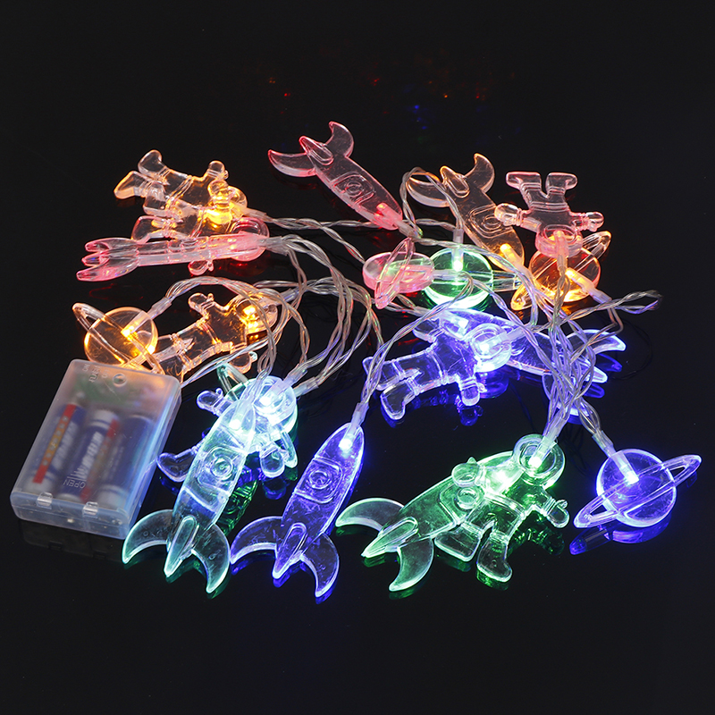 1Set New Christmas Birthday Party Spaceship Rocket Mars Home Decorate Led String Lights