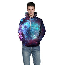 New 2017 Colorful Space Galaxy Hoodies Sweatshirts 3D Nebula All Over Print Hooded Pullovers Hoody Coat