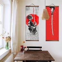Japanese Ukiyo-E Samurai Hanging Scrolls