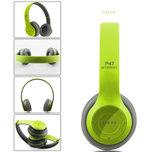 P47 Bluetooth 4.1 Headphones with Microphone Wireless Hands free Music Headset +TF CARD SLOT Support mp3 mode+ FM radio mode