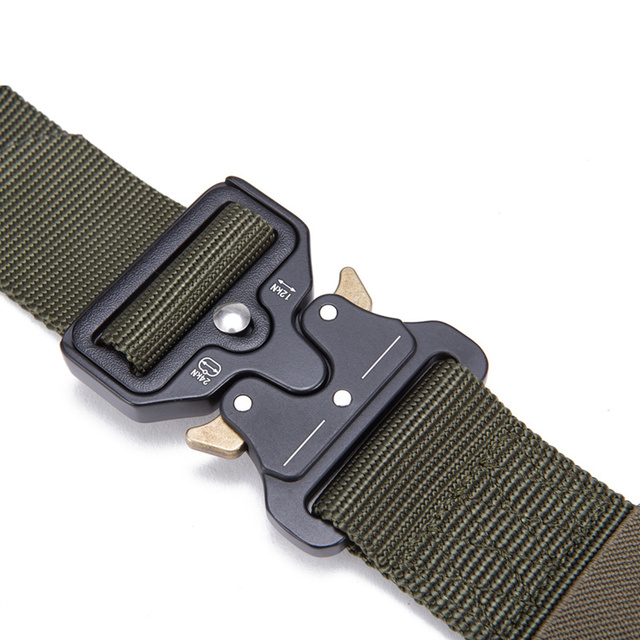 Mens Tactical Belt Military Nylon Belt Outdoor multi functional Training