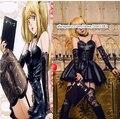 Death Note Миса Амане Black dress with перчатки чулки галстуки Косплей Костюм