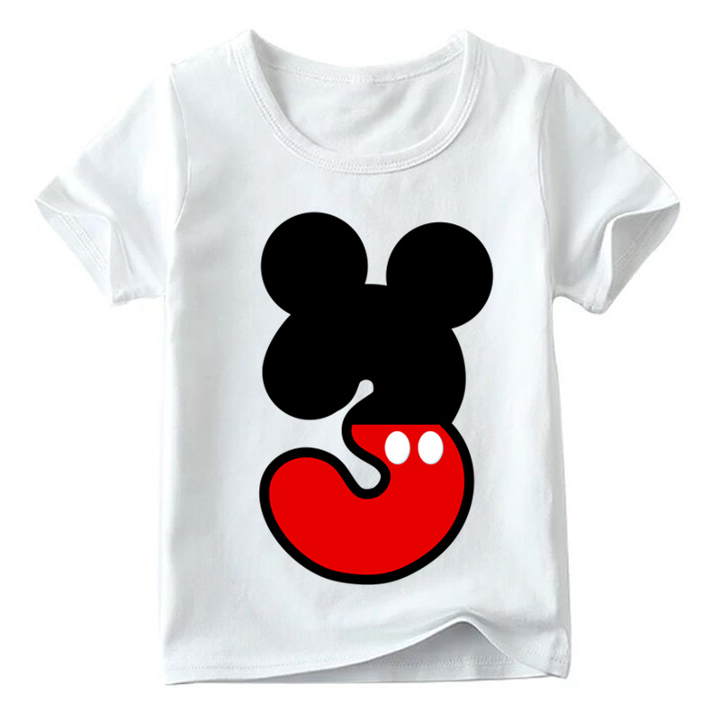 Baby Boys/Girls Happy Birthday Letter Bow Cute Print Clothes Children Funny T shirt,Kids Number 1-9 Birthday Present,HKP2416 27