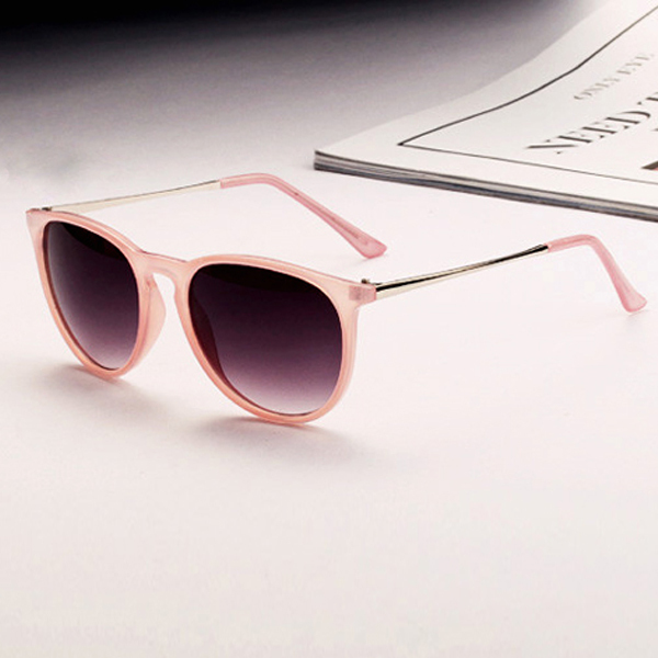 UV400 Women Retro Oversized Metal Frame Sunglasses Shades Eyewear Sun Glasses