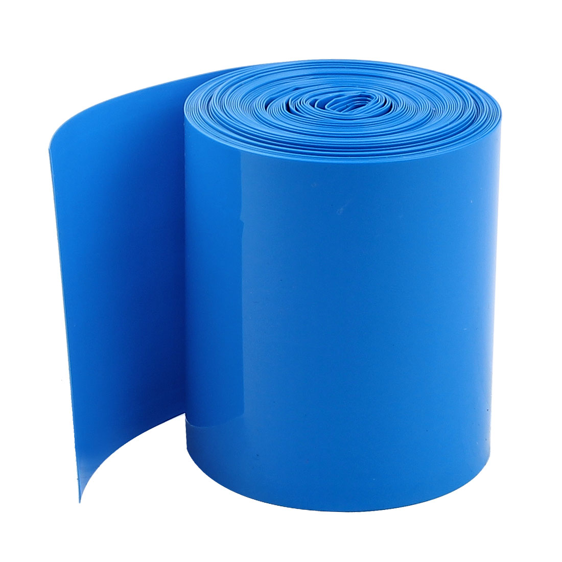 uxcell 5meters 50mm width pvc heat shrink wrap tube blue. Black Bedroom Furniture Sets. Home Design Ideas