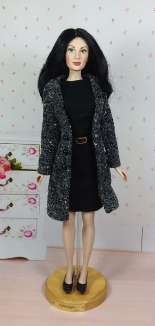 Original KINGSTATE 1/4 Franklin Mint Dolls Clothing Set Business Suit Coat+Dress Celebrity Doll Limited Collection Free Shipping