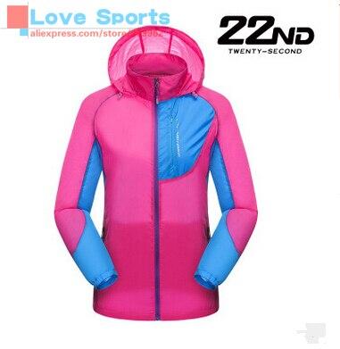 Hooded Hit Color Ultraviolet proof Sunscreen Light Outdoor Leisure Suit Skin Coat Sport Wear For Women