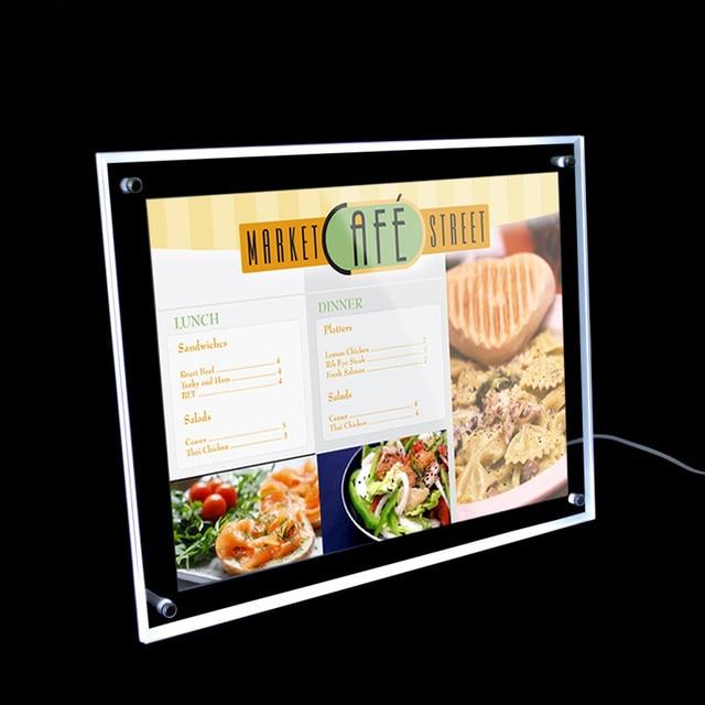 a3 acrylic frame led light box restairant led menu board crystal led