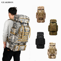 80L Waterproof Climbing Backpack Military Tactical Outdoor Sports Bag Travel Camping Hiking Backpack Men Women Trekking Bag