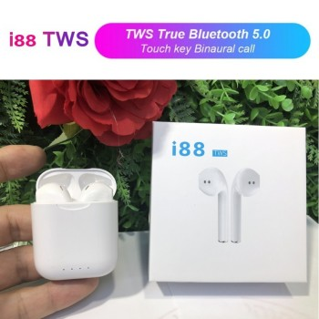 New i88 Tws Wireless Earphone Bluetooth 5.0 1:1 Air Pods Stereo Sports Headphones Pk I12 I9s I10 I11 I13 i7s Earbuds