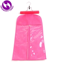 UPS to USA Pink/Black/White Hair Extension Packaging Suit Case Zipper Bag and Hanger for Weft Hair Clip in Hair and Ponytail