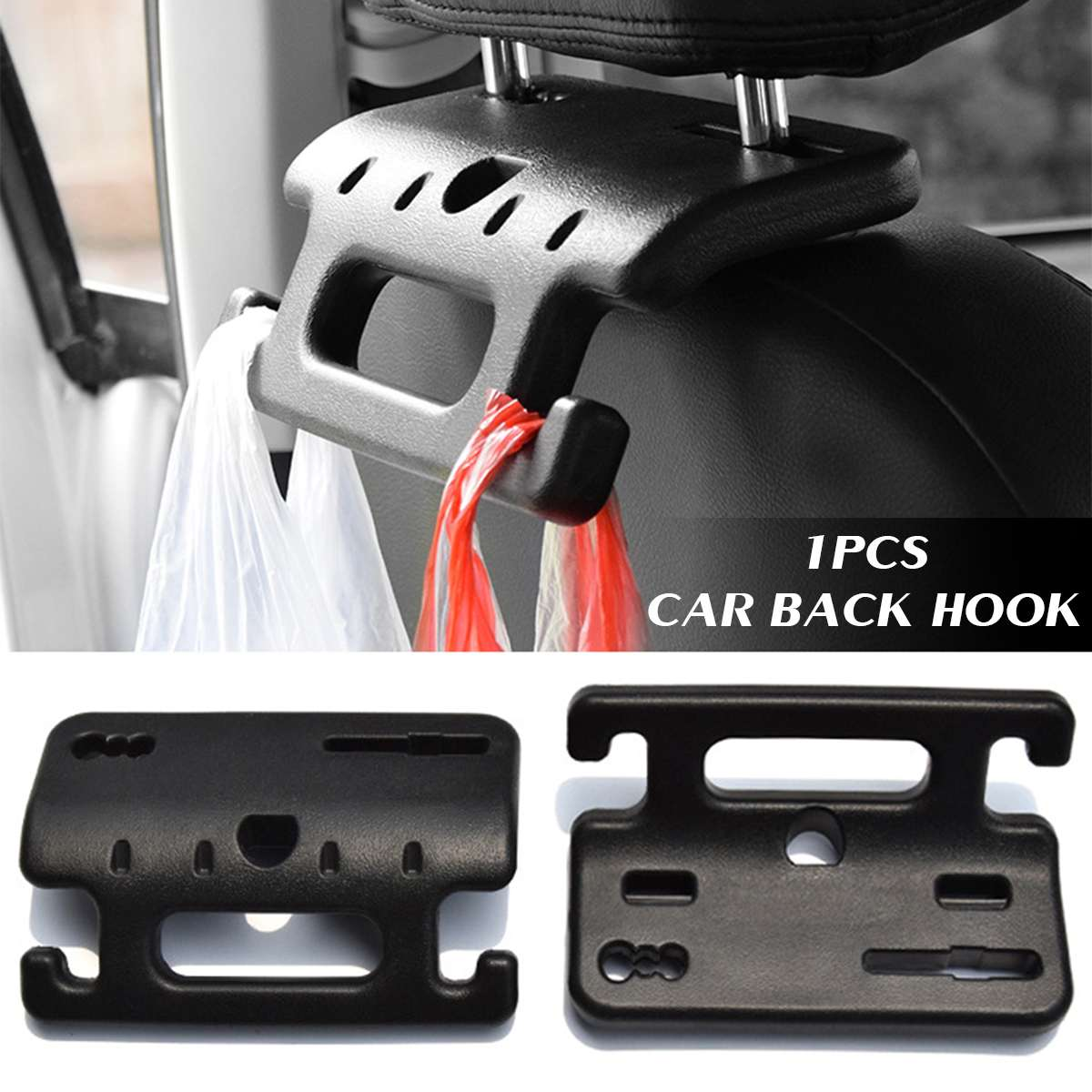 Multifuction Car Chair Handle Hook Vehicle Interior Chair Back Hook Bracket ABS Car Seats Handle Hook Holder For Automobiles
