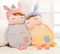 49 cm Gelb Grau Traum Kaninchen Metoo Angela Groß der kleine Körper Cartoon Kinder Eine Kleine Tasche Baby Umhängetasche rucksack