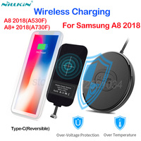 Nillkin Qi Wireless Charging for Samsung Galaxy A8 2018/A8+ Plus 2018 Mini Qi Fast Wireless Charger+USB Type C Charging Receiver