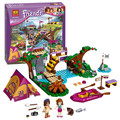 10493 amigos acampamento aventura rafting conjunto modelo de blocos de construção compatível com lego amigos tijolo brinquedos menina
