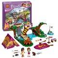 10493 amigos campamento de aventura de rafting building blocks set modelo compatible con lego amigos ladrillo juguetes de niña