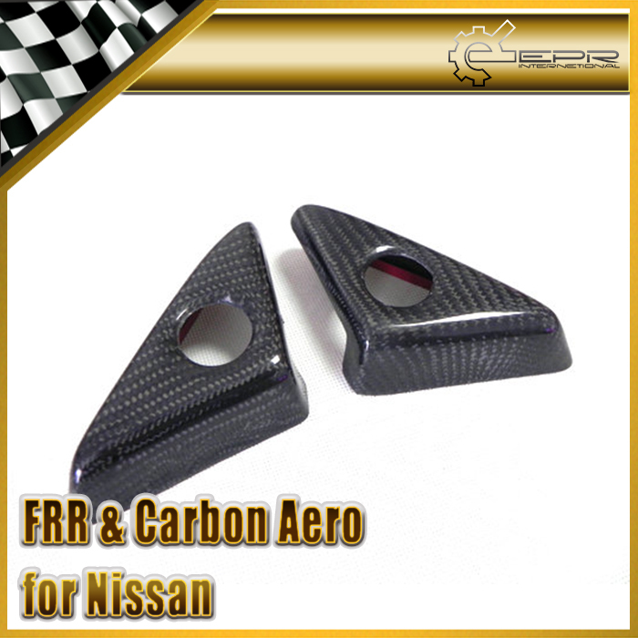 EPR Car Styling Carbon Fiber Side Door Mirror Inner Panel Triangle For Nissan R35 GTR Car Accessories Racing new 2pcs side mirror cover for nissan skyline r34 gtt gtr carbon fiber car accessories car styling