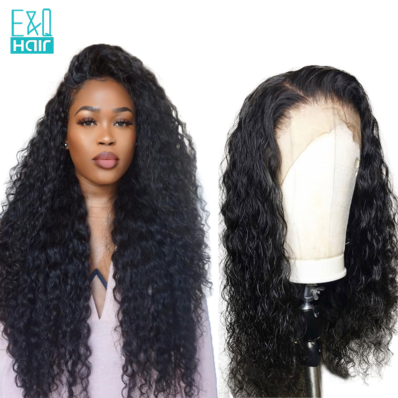 EQ 360 Lace Frontal Wig Pre Plucked With Baby Hair Brazilian Water Wave Wig Lace Front