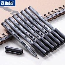 Caneta marcador de tinta de pigmento, pigmento forro para pigmento 0.05 0.1 0.2 0.3 0.4 0.5 ponta diferente preta, 1 peça fineliner canetas de esboço