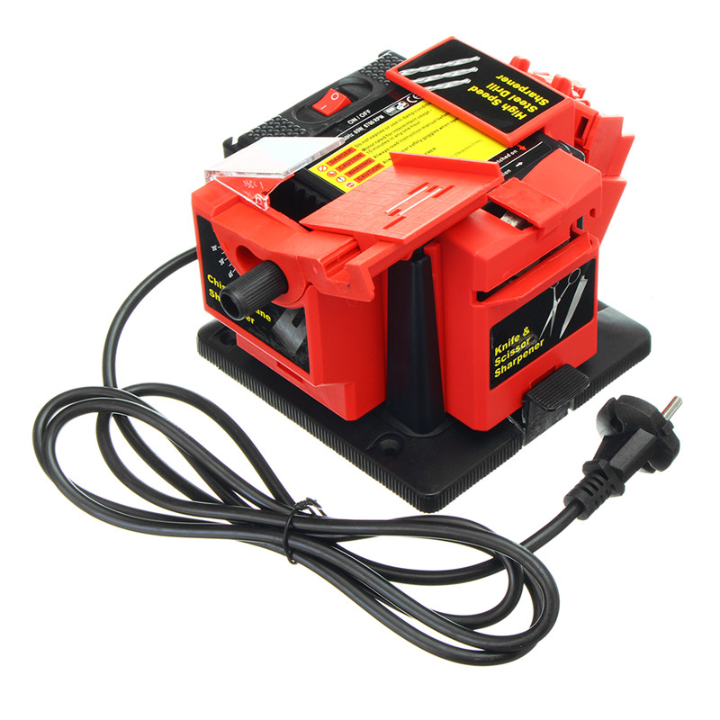 220V Multipurpose Sharpener for Drill Bits Chisels Planer Blades Scissors Knives Electric Power Tool