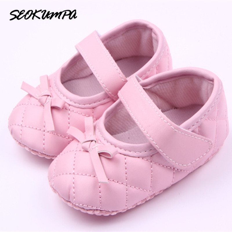 2018 New Fashion Toddler Newborn Shoes First Walker Pu Leather Autumn Spring Fashion Baby Kids Girl Soft Sole Sneaker 0-18Months