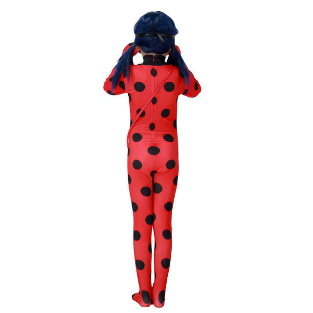 53575f284f placeholder Anime Kids Miraculous Ladybug Jumpsuits With Mask Ladybug  Romper Costume Children s Day Halloween Party For Girls