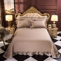 100%Cotton Quilt Bedspread Coverlet Set Navy Blue,Gray, Wine, Comforter Bedding Cover 3 Piece Quilt Set 250x250CM/250x270CM 3Pcs