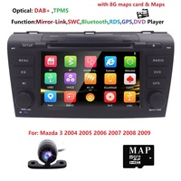 Free Camera 7 Double 2 Din Car Stereo DVD Player Navigation for Mazda 3 Mazda3 2004 2009 with GPS,Bluetooth,DAB+,USB,SD,3G TPMS