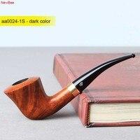 NewBee Free 10 Smoking Tools Kit Briar Wood Handmade Tobacco Pipes Metal Loop Decor Bent Smoking