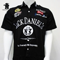 New Men's  F1 Motorcycle Race Shirts Daniel Brand Summer Fashion Cool Full Embroidery Short Sleeve Shirt For Men D33E1