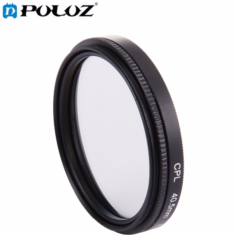 For Go Pro Accessories 4 in 1 40.5mm Lens Filter (CPL + UV) Adapter Ring & Lens Cap for GoPro HERO4 3+ 3 Sport Action Camera